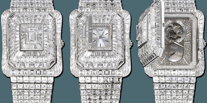 precious watch PIAGET EMPERADOR TEMPLE WATCH with diamonds