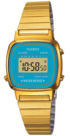 casio gold and blue