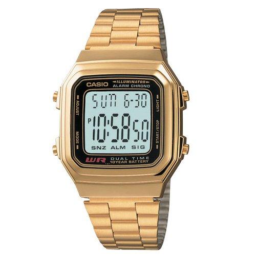big gold casio watch