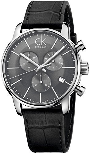 Calvin Klein K2G271C3 Men's Watches Black Leather Strap
