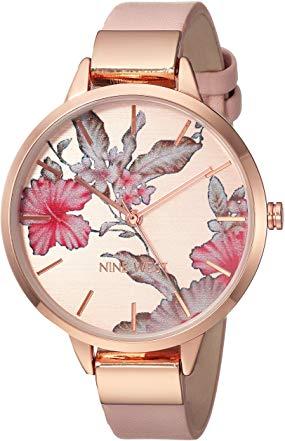 Cheap Female Watch - Nine West Floral Rose Goldtone