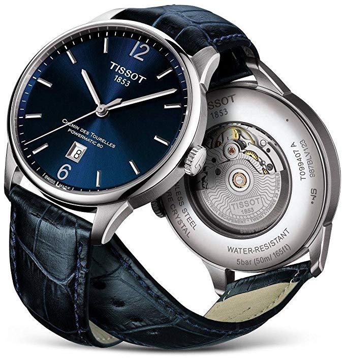 Elegant Swiss watch Tissot Chemin des Tourelles T0994071604800