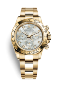 Rolex Daytona Mother of pearl dial Gold 116508-0007