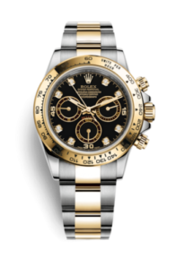 Rolex Daytona with diamonds in 18 ct gold settings 116503-0008