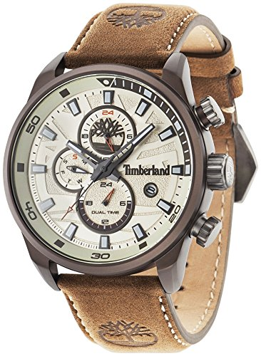 Timberland Henniker II Analog Wrist Watch Man Brown Leather