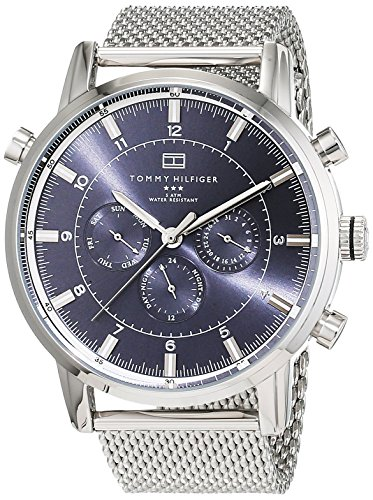 Tommy Hilfiger 1790877 expensive men's watches stainless steel multi-dial display