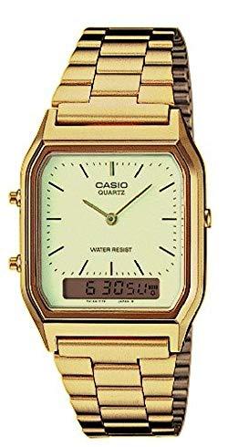 analogue Casio gold watch