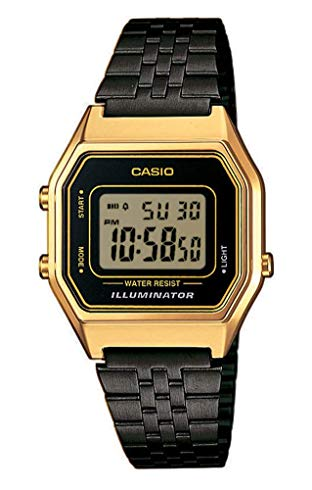 casio gold and black