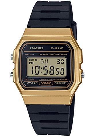 casio gold black dial