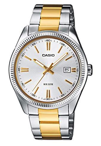 casio gold watch round