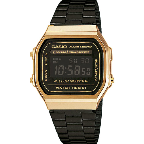casio watch gold and black