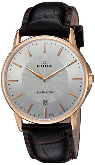 classic Swiss watch EDOX 56001 37R