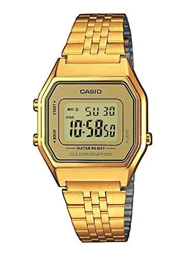 female gold casio watch