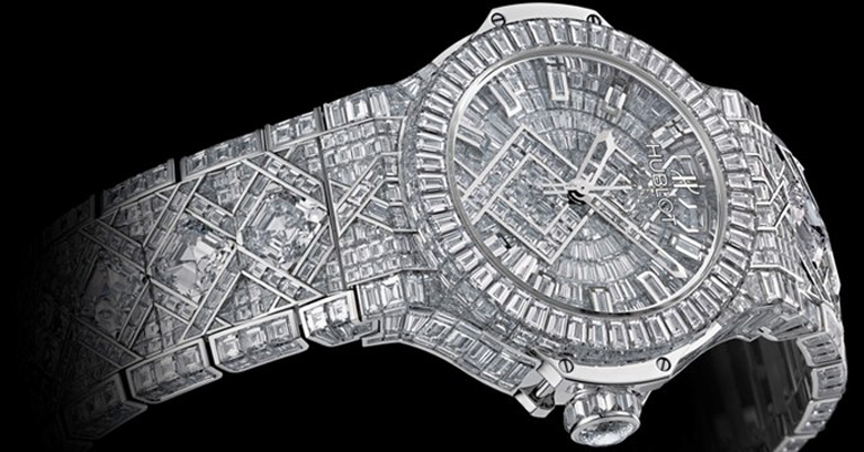 luxury watch diamonds 5 million dollars hublot big bang