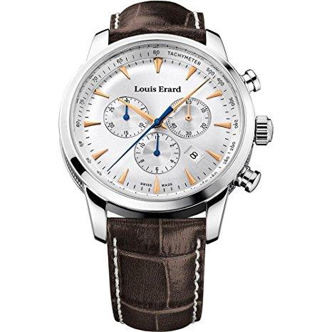 prized watch Louis Erard Men's 42mm Chronograph brown strap Quartz Watch 13900AA11.BDC101
