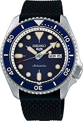 Seiko 5 Sports Suits SRPD71K2 Blue With Silicone-Rubber Strap