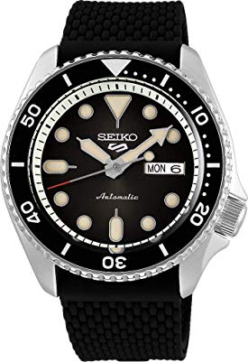 Seiko 5 Sports Suits SRPD73K2 – Smoke Black With Silicone-Rubber Strap
