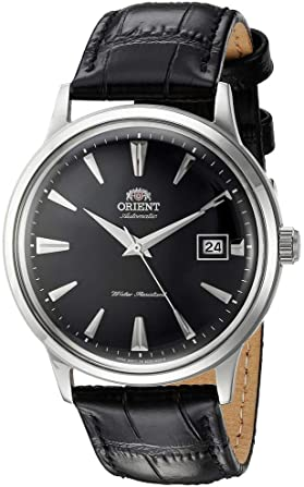 elegant men's leather watch
